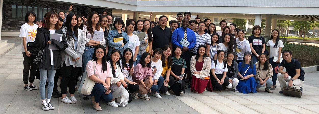 Dean Andrew Daire with a group of faculty and students during an October 2018 trip to China.