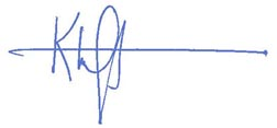 Signature of Kimberly Ogden, president of the VCU School of Education's Education Alumni Council